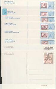 Vatikan   postfrisch**     8 Ganzsachen   Postkarten