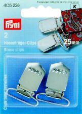 2 hosenträgerclips 25 mm acciaio antiruggine per cucire 405228