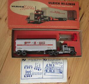 Assembled Ulrich Model Kit, HO scale Hi-Liner Kenworth Truck, in original box