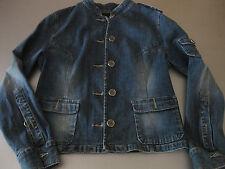 Jeansjacke Jacke Jeans Gr. 40, Schulterklappen Knopfleiste, Manschetten, AMISU
