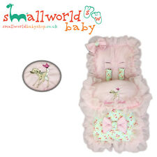 Personalised Girls Meadow/Pink Frill Bambi Footmuff Cosytoes NEXT DAY DISPATCH