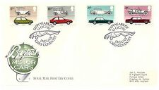 GREAT BRITAIN 1982 BRITISH MOTOR CARS SET OF 4 FIRST DAY COVER 60 YEARS JAGUAR