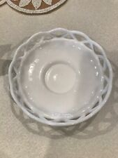 """Milk Glass Candle Holder Or Dish 6"""" Round"""