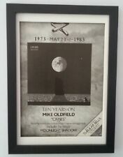 MIKE OLDFIELD*Crises*1983*ORIGINAL*A4*ADVERT*FRAMED*FAST WORLD SHIP