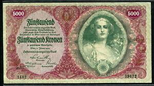 Austria 1922, 50000 Kronen, P80, 195x106mm, EF