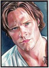 SUPERNATURAL PSC SKETCH CARD - Jared Padalecki as Sam Winchester by Sarah Silva