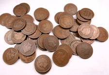 (50) 1800's Mixed Indian Head Penny Roll // Good+ // 50 Coins + BONUS