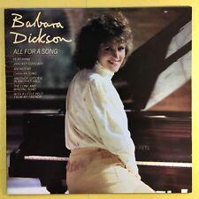 Barbara Dickson - All For A Song - Epic EPC-10030 Ex+ Condition Vinyl LP