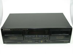 Pioneer CT-W606DR Digital Processing Stereo Dual Cassette Deck TESTED & WORKING