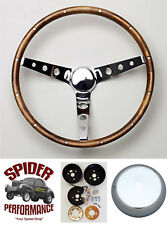 """Fits all cars 1965-1969 Mercury steering wheel 15"""" CLASSIC WALNUT"""