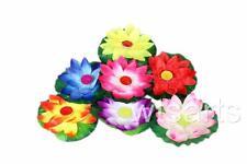 Floating Lotus Candle, Floral Tea Lights. 10 Pack