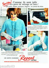 PUBLICITE ADVERTISING 056  1964  les gants chamoisés latex Regent
