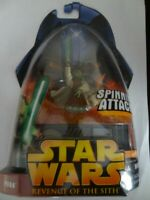 Star Wars Action Figure Revenge Of The Sith Yoda #26 Spinning Attack YODA