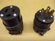LEVITON 515CR & 515PR 15A Cord Mount Plug and Receptacle Set