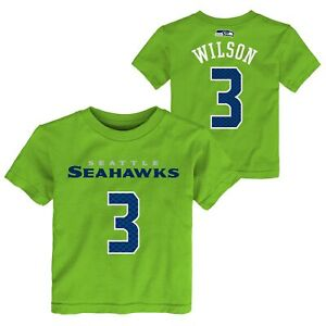 Outerstuff NFL Toddlers Seattle Seahawks Russell Wilson #3 Player Tee, Green