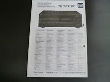Original Service Anleitung Dual CR 3700 RC