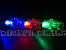 FREE SHIPPING 100 pcs Mix RGB LED Party Laser Finger Light Beam Ring Club Rave