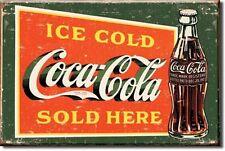 USA Coca Cola Sold Here Kühlschrank Magnet Vintage Style Magnetschild