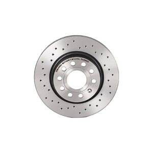 Brembo Front Xtra Brake Disc Rotor Drilled for Volkswagen Jetta S Base 2.0 11-15