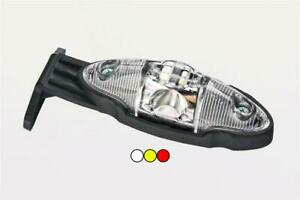 12/24V WHITE AMBER RED LED clearance marker lamp light with angle bracket and...
