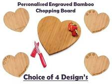 PERSONALISED BAMBOO WOOD HEART Gift for Mum, Grandmother, Sister, Friend