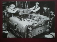 POSTCARD ASSEMBLING A CYLINDER MOULD AT EASTLEIGH RAILWAY WORKS IN 1947