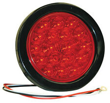 "4"" Round Stop-Turn-Tail Light, 18 LED Red with pigtail & grommet"
