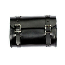 Genuine Leather Small Motorcycle Tool Bag Pouch - Black - American Made