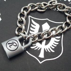 Padlock Lock R Punk Sex Pistols Rabbit Heavy Duty Choker Bracelet 9 inch-New