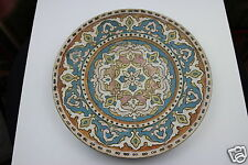 Antique c19th Bohemian Johann Maresch  Wall Plaque/ Plate  30cm Diameter N:5406