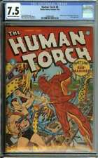 HUMAN TORCH #8 CGC 7.5 CR/OW PAGES // HUMAN TORCH VS SUB-MARINER BATTLE 1942