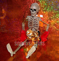 "16"" BOXER SKELETON hangable Halloween decoration jointed horror skeletal boxing"