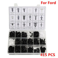 415pcs 18 Sizes Push Pin Rivet Bumper Door Panel Clip Retainer Fastener For Ford