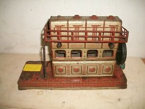 Rare 1920's Orobr Tin Toys Germany, German Wind up Tin Litho Steam Engine Works