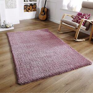 Luxury Super Soft Rug Mauve Dusky Pink Pastel Softness Shaggy Rugs ALL SIZES
