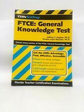 CliffsTestPrep FTCE General Knowledge Fla Teacher Certification Exam LIKE NEW