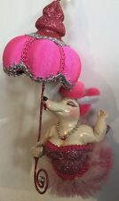 Katherine's Collection Burlesque Fifi Poodle Dog Hot Pink Umbrella Ornament NOS