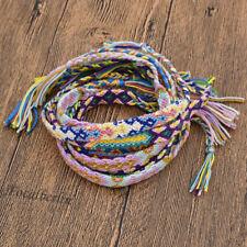 Baumwolle Geflochten Freundschaftsarmbänder Strick 10x Mehrfarbig Schmuck Unisex