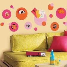 RoomMates Wandsticker Wandtaschen Fotohalter pink orange Jugendzimmer
