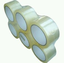 6 HUGE Rolls of Clear Strong Parcel Tape Packing Sellotape 50mm X 66m
