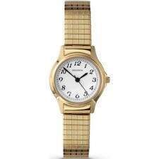 SEKONDA LADIES GOLD PLATED EXPANDING BRACELET WATCH 4134b RRP:£44.99