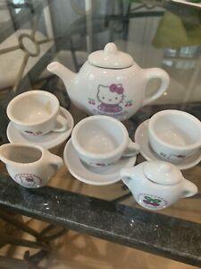 Sanrio Hello Kitty Miniature Porcelain Tea Set 1999