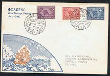 Dänemarke Nr.266-68 auf gelaufenen FDC Vitus Bering 1941