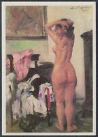 GER 33618) Kunst AK Lovis Corinth Modellpause Akt Frauen Nacktportrait
