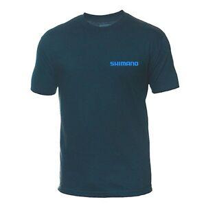 SHIMANO Cycling Sport FISHING T-Shirt Tee Navy Blue Medium Size