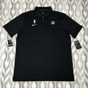 Nike NBA Golden State Warriors Men Short Sleeve Shirt Polo Black Sz XL AV1775010