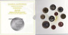 SLOVENIE Coffret BU 2016 - 10 Monnaies (dont 2 et 3 Euro commémoratives)  RARE !