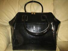 TED BAKER Genuine Designer Large Black Patent Shoulder Bag / Handbag