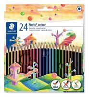 24 x Staedtler Noris Colour 185 C24 School Colouring Pencils - Assorted Colours