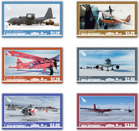 2018    ROSS DEPENDENCY  -  AIRCRAFT  -  SET  -  UNMOUNTED MINT